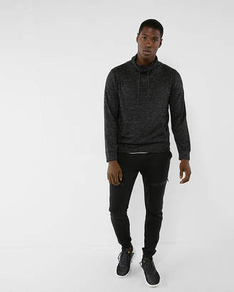 Express Plush Jersey Funnel Neck Sweatshirt