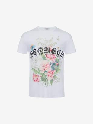 Alexander McQueen Rose Skull T-Shirt