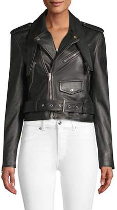 Balenciaga Women's Leather Moto Jacket