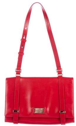 Michael Kors Leather Shoulder Bag - RED - STYLE