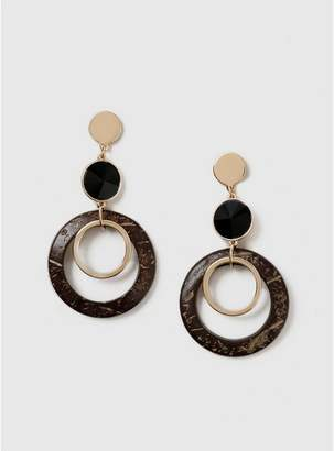 Evans Gold Statement Hoop Drop Earrings