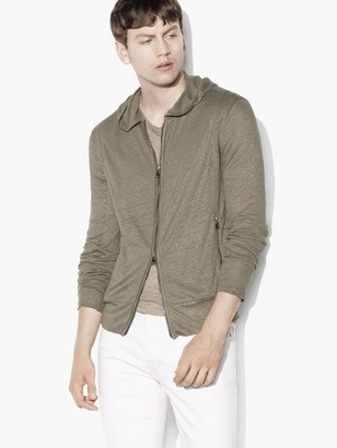 Coated Linen Hoodie $298 thestylecure.com