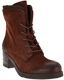 Miz Mooz Leather Lace-up Boots - Sloanne