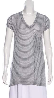 BCBGMAXAZRIA Striped V-Neck T-Shirt