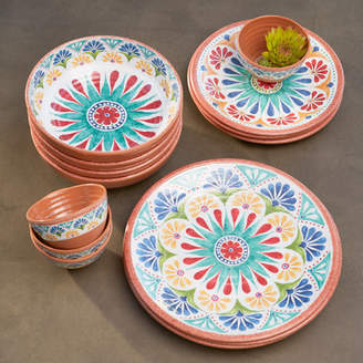 Mistana Adkins 16-Piece Melamine Dinnerware Set