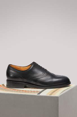 Cyclist decor perforations leather sole Brogues