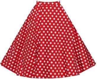 Eyekepper High Waist Vintage A Line Midi Skirt XXL