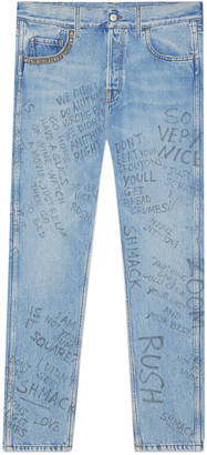 Scribbled writing print punk pant $860 thestylecure.com