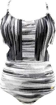 Sunseeker Blackwhite Cut Out Swimsuit