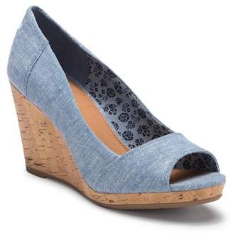 Toms Stella Chambray Wedge Sandal