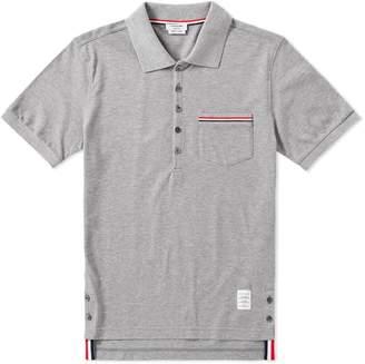 Thom Browne Mercerised Pique Pocket Polo