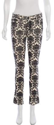 Ermanno Scervino Printed Mid-Rise Jeans