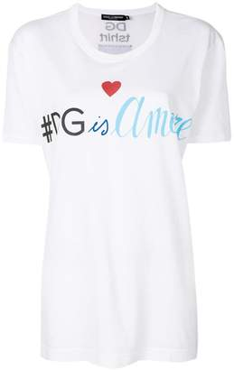 Dolce & Gabbana tDG is amore printed T-shirt