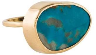 Melissa Joy Manning 14K Turquoise Horizontal Ring