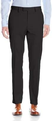 Louis Raphael Men's Slim Fit Flat Front Cotton Blend Dress Pant