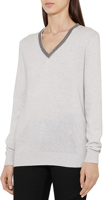 REISS Torryn Embellished Sweater $230 thestylecure.com