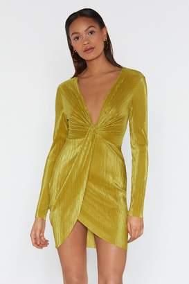 Nasty Gal Add to the Twist Plunge Dress