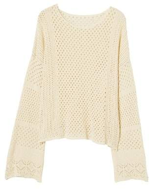 MANGO Openwork cotton sweater