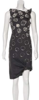 Max Mara Polka Dot Midi Dress