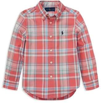 Ralph Lauren Boys' Plaid Cotton Poplin Shirt - Little Kid