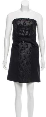 See by Chloe Strapless Brocade Dress