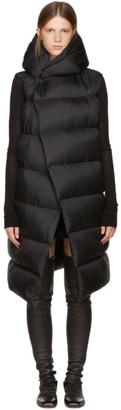 Rick Owens Black Sleeveless Down Liner Jacket $1,510 thestylecure.com