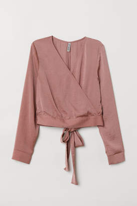 H&M Blouse with Ties - Pink