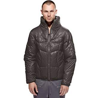 Calle jugar: Men's Goose Down Filled Puffer Jacket. Silver. L