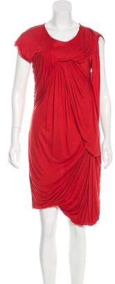 Lanvin Draped Knee-Length Dress