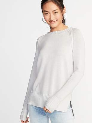 Old Navy Rib-Knit Trim Crew-Neck Sweater for Women