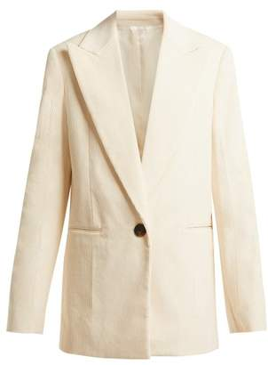 Helmut Lang Single Breasted Cotton Corduroy Blazer - Womens - Ivory