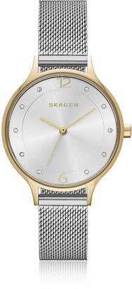 Skagen Anita Two-Tone Steel-Mesh Women's Watch