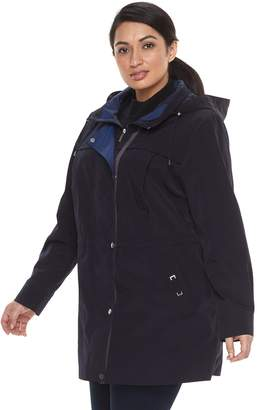 Gallery Plus Size Hooded Anorak Stadium Jacket
