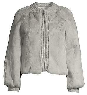 Pologeorgis Women's Rabbit Fur & Knit Jacket