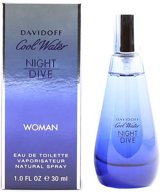 Davidoff Cool Water Night Dive for Ladies Eau de Toilette Spray, 1.0 oz./30 mL