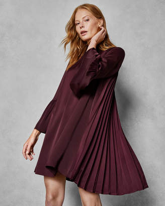 Ted Baker XANYA Bow neck pleated back shift dress