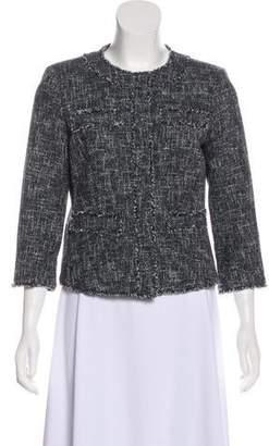 MICHAEL Michael Kors Long Sleeve Tweed Jacket