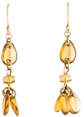 Me & Ro Me&Ro 14K Citrine Drop Earrings