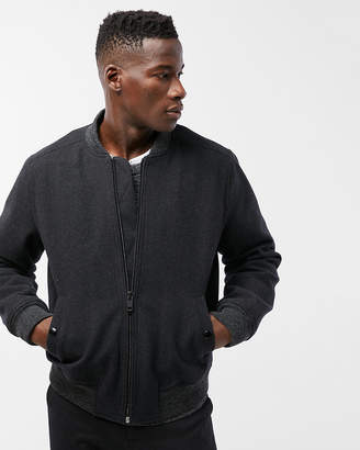 Express Recycled Wool Bomber Jacket