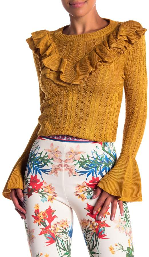 Flying Tomato Knit Crew Neck Long Sleeve Sweater