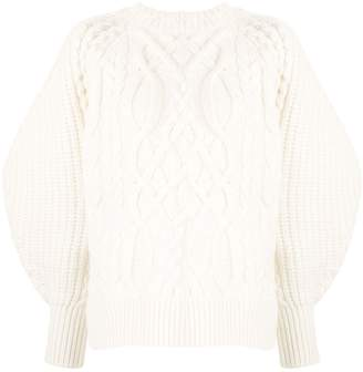 Enfold cable knit jumper