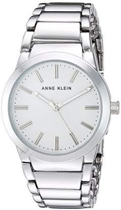Anne Klein Women's AK/2907SVSV -Tone Bracelet Watch