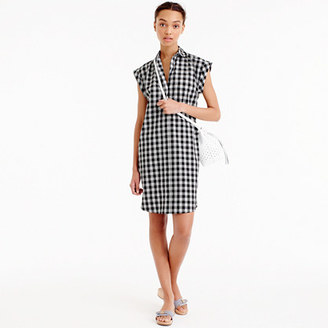 Petite classic short-sleeve shirtdress in gingham $118 thestylecure.com