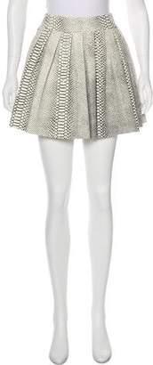 Alice + Olivia Embossed Leather Skirt w/ Tags