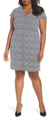 MICHAEL Michael Kors Plaid Jacquard Sheath Dress