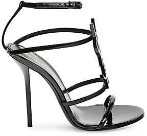 Saint Laurent Women's Cassandra Logo Stiletto Sandals