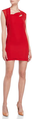 The Kooples Red Cape Sheath Dress