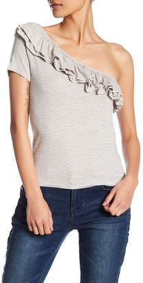 Romeo & Juliet Couture One Shoulder Ruffle Tee
