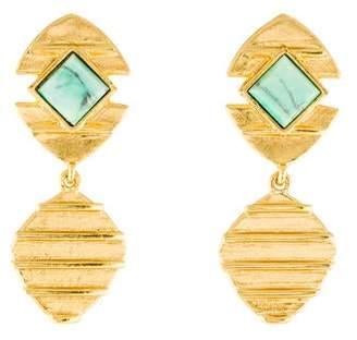 Stephanie Kantis Dyed Magnesite Beehive Drop Earrings
