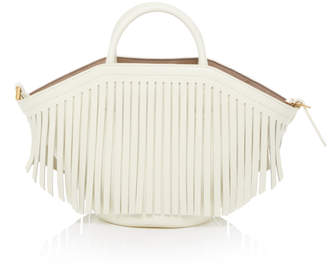 Trademark Small Leather Fringe Basket